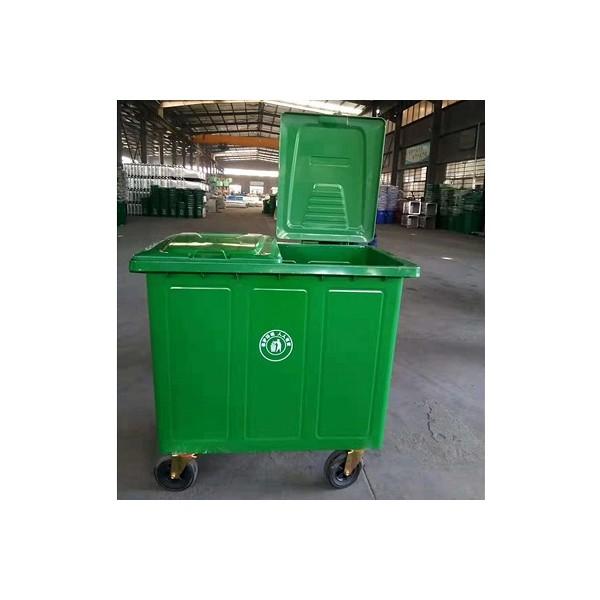 直销 垃圾桶 660升铁垃圾桶 户外加厚