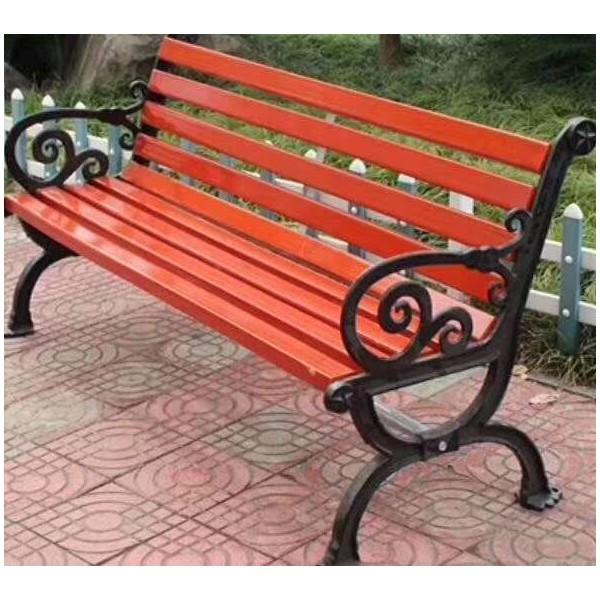 批发 户外公园椅 实木座椅 休闲靠背