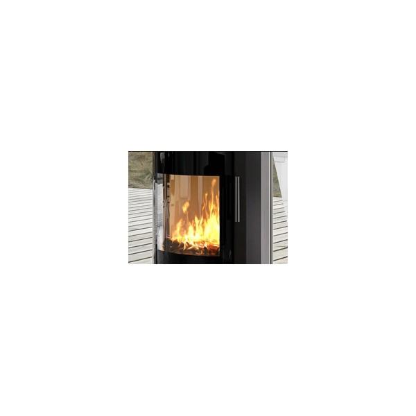 出口颗粒炉防火丝印玻璃 黑边黑框耐