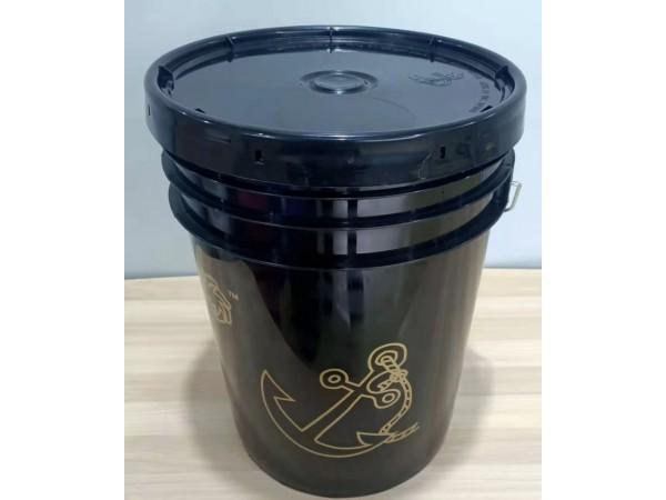 20升黑色避光油墨塑料美式桶真石漆塑料美式桶